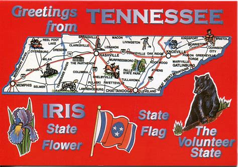 map usa tennessee map of tennessee remembering letters and postcards