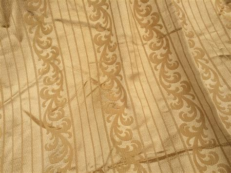 gold drapery fabric vintage gold silk brocade drapery fabric looks like it was
