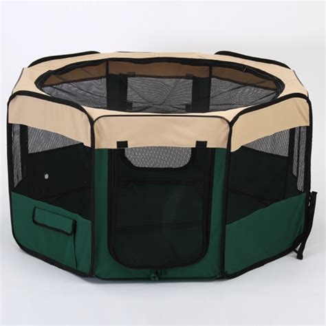 portable puppy playpen medium portable pet playpen exercise puppy cat play pen foldable pet fences ebay