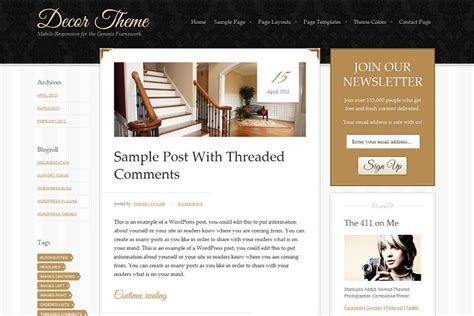 gold themes wordpress decor sophisticated blog wordpress theme from studiopress