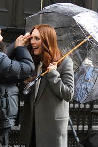 what is up with julianne forhead julianne moore 54 looks radiant as she films l oreal