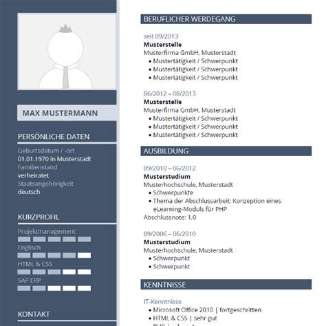 Layout Html Vorlagen | lebenslauf layout tabellarischer lebenslauf