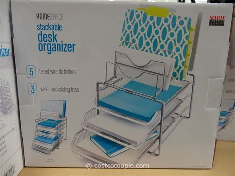 Costco Desk Organizer Seville Classics Stackable Desk Organizer