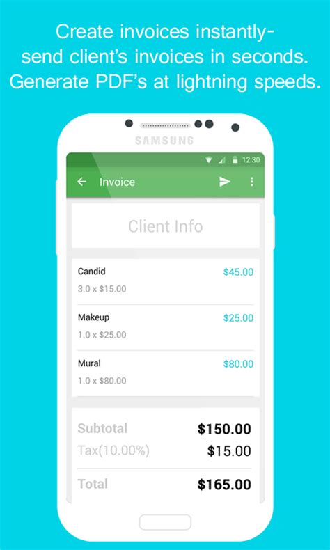 free invoice template for android smart invoice email invoices android apps on play