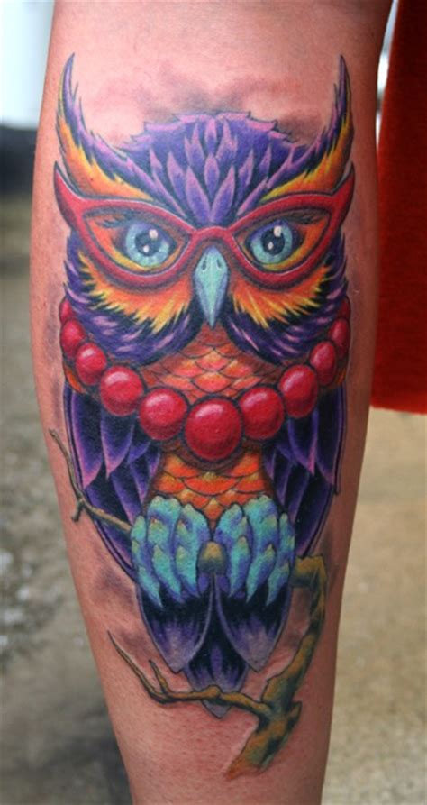 New Color Owl phil gallery tattoos traditional school