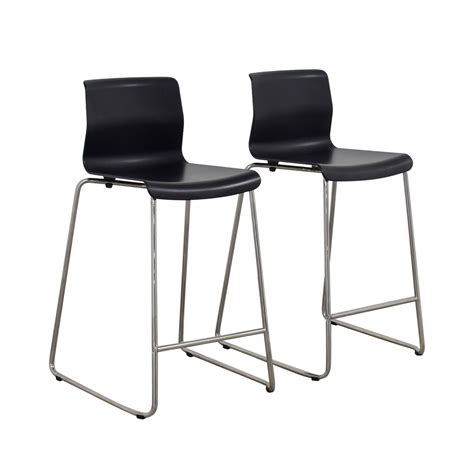Ikea Bar Stools Metal by 81 Ikea Ikea Black And Metal Bar Stools Chairs