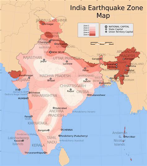 earthquake zones in the world earthquake zones of india wikipedia
