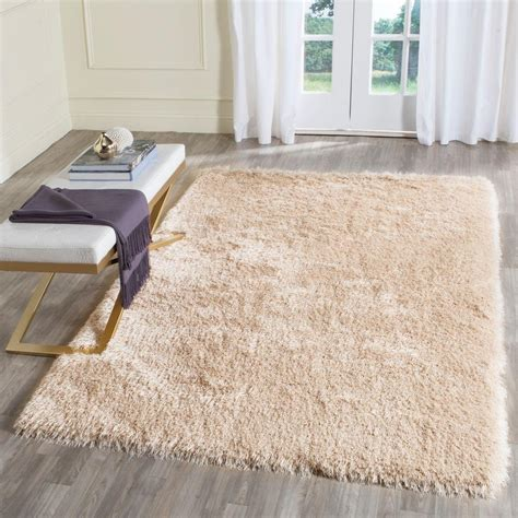 Memory Foam Area Rug Safavieh Memory Foam Plush Shag Taupe 5 Ft X 8 Ft Area Rug Sgp256c 5 The Home Depot