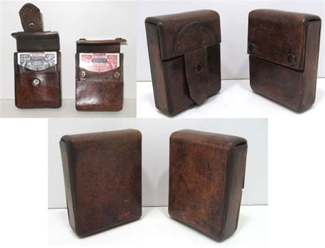 how to make a card deck box leather card deck box in distressed brown by