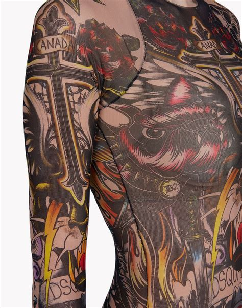 tattoo body suit for sale dsquared2 tattoo bodysuit bodies for women official store