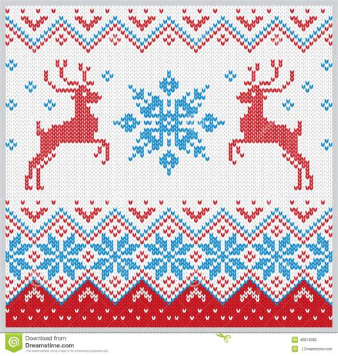 snowflake knitting pattern free christmas knitted pattern with snowflake and deer vector