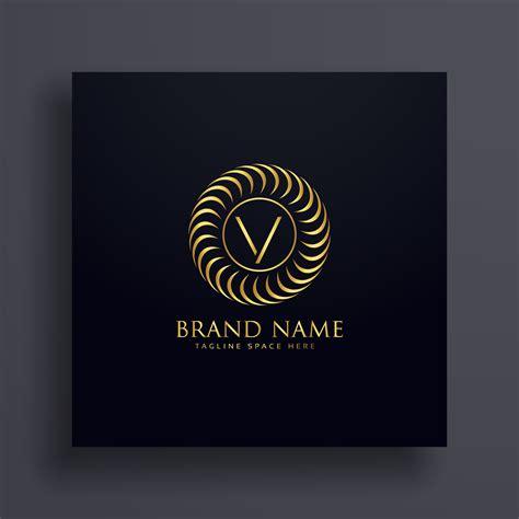 luxury colors luxury letter v logo concept design in golden color