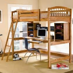 size wooden loft bed with deskherpowerhustle