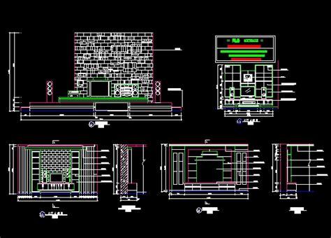 wall pattern dwg tv wall free download autocad blocks cad 3dmodelfree com