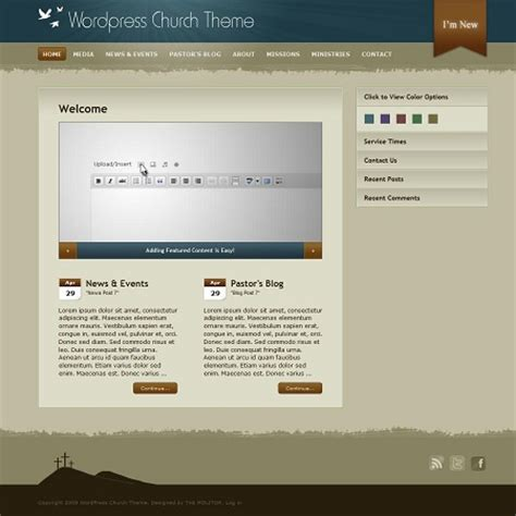 10 free and premium church wordpress themes premium html