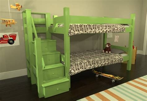 Maine Bunk Beds Maine Bunk Beds Winslow Bunk Bed With Stairs And Drawers Inhabitots