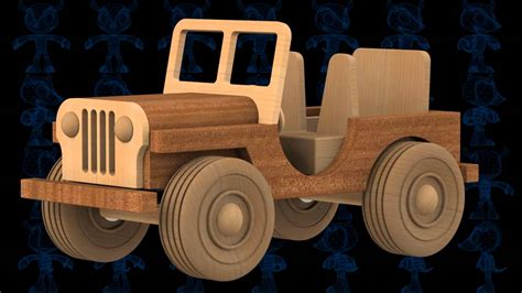 jeep wooden toy  model youtube