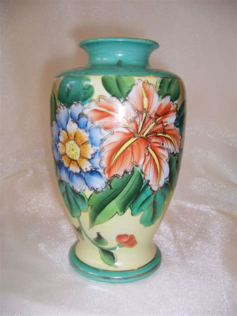 Painted Japanese Vases by Attractive Painted Floral Vase Made In Japan From