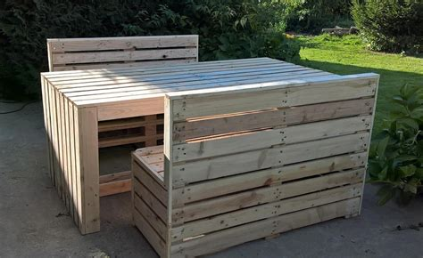 Patio Pallet Furniture Plans Recycled Pallet Patio Table With Benches Pallet Ideas Recycled Upcycled Pallets Furniture