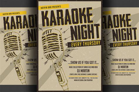 free templates for karaoke flyers karaoke night flyer poster template flyer templates on