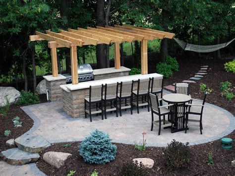 backyard outdoors outdoor kitchen and bar gardening outdoor kitchens