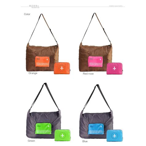 Fs Tas Selempang Happy Flight Folding Bag Foldable Travel Bag tas selempang happy flight folding bag foldable travel bag cross elevenia
