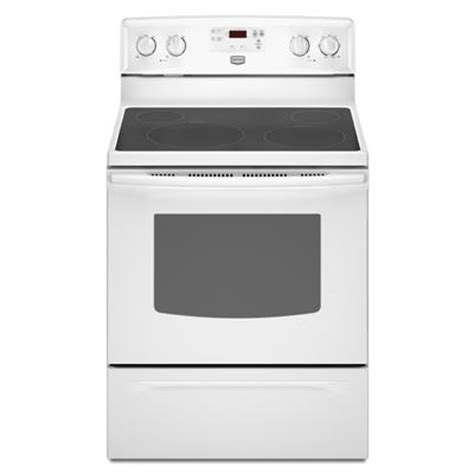 maytag 30 inch self cleaning freestanding smooth top