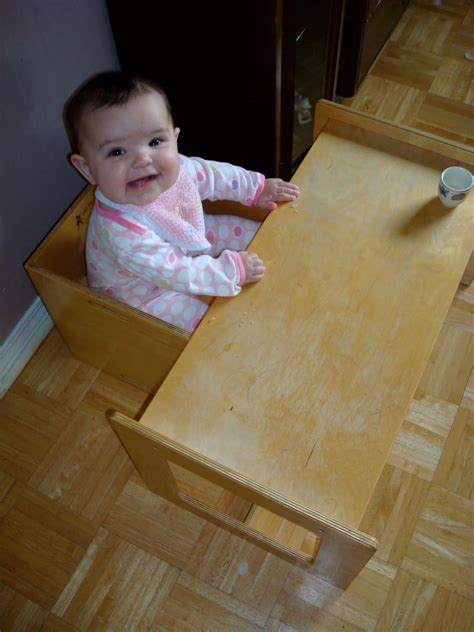 in a pink house in the pink tower weaning table