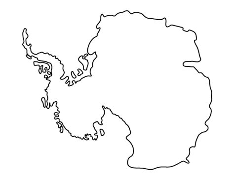 printable templates of continents antarctica pattern use the printable outline for crafts
