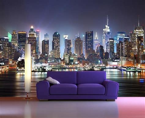 New York Skyline Wall Mural new york skyline manhattan wall mural wallpapers decor