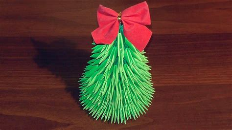 3d origami christmas tree tutorial youtube