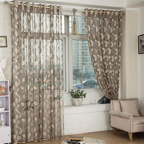 black out window curtains 2 panel breathable half black out voile sheer curtains