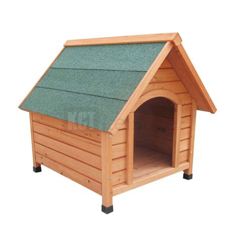 Medium Wooden Dog Kennel Pet House Oxford Outdoor Shelter Animal Home Apex Roof