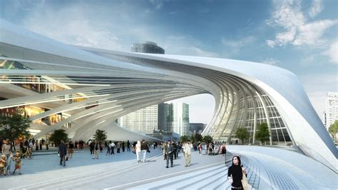 Fan Expo Floor Plan by Zaha Hadid S Flinders St Station Features Sweeping Strata