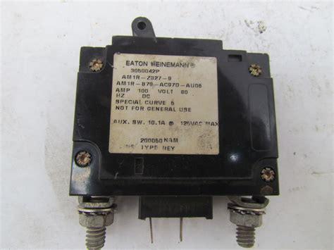 heinemann circuit breakers eaton heinemann am1r z327 9 100 80vdc circuit breaker