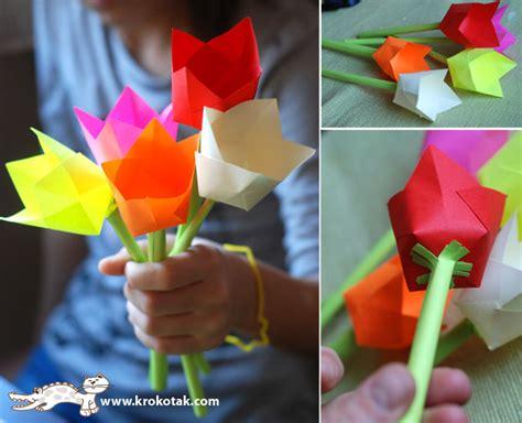 origami tulips bouquet paper tulips bouquet doodle dino