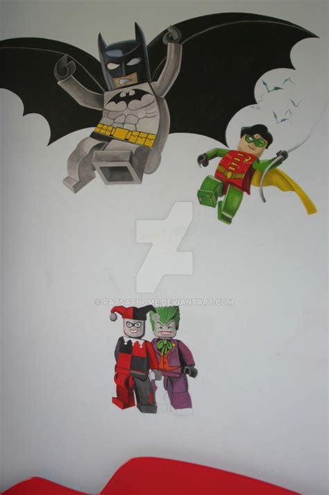 lego batman wallpaper mural lego batman mural w i p part 3 full pic by ratsathome on