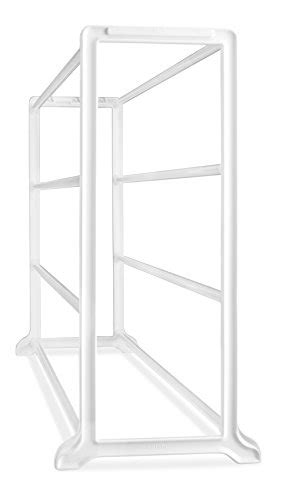 whitmor white 20 pair shoe rack storage organizer holder whitmor 20 pair floor shoe stand white import it all
