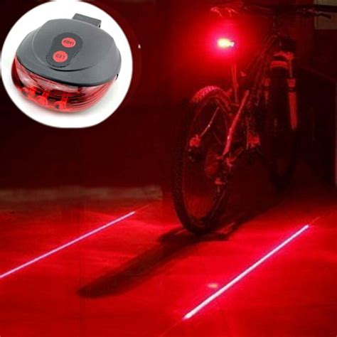 hot sale bicycle led light 2 lasers night cycling bike