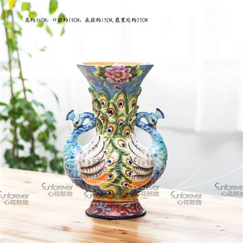 Modern Vase And Gift Coupon Code Mini Vase Wedding Gift Peacock Boughed Vase Decoration