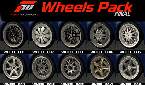 Wheel Pack fm3 wheel pack gta sa mods collection