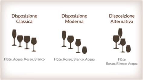 posizione dei bicchieri a tavola degustare il vino scegliere il bicchiere giusto