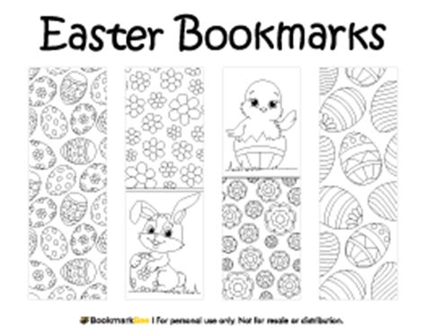 printable easter bookmarks to colour bookmark bundle