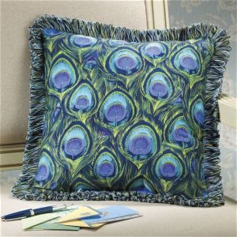 peacock feathers reversible pillow furniture home decor