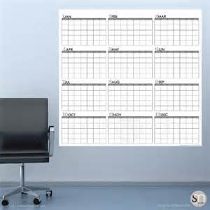 yearly blank calendar jan thru dec erase wall