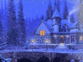 3d snowy cottage wallpaper and backgrounds