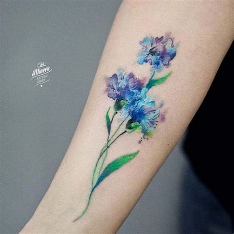 watercolor tattoo near me 50 pretty flower ideas for creative juice