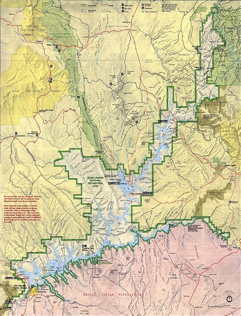 utah arizona map maps of glen national recreation area shaded relief
