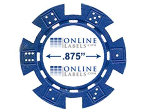 poker chip labels diy blank labels  poker chips onlinelabelscom