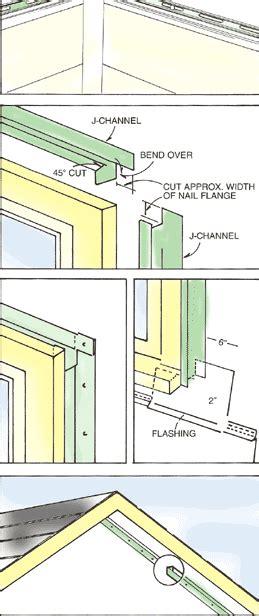 install vinyl siding starter trim strips